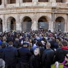 People queue to enter the Colosseum in Rome. REUTERS/Max Rossi