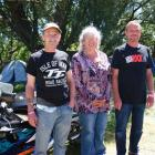 Pete (left), Lyn and Marty McKie have attended all 30 Vincent County Rallies and say they keep...