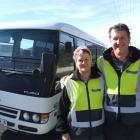 Peter and Cheryl Simpson transport workers to and from the Macraes mine seven days a week. Photo...