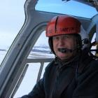 Peter Garden, flying above Rat Island, in the Aleutian Islands, on rat eradication work.