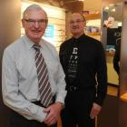 Peter Leslie (left) and Peter Stewart Dick, who run their optometry business from a refurbished...