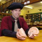 Pharmacology researcher Brad Sutherland (28) reflects on his stroke-related research. Photo by...