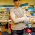 Smash and grab . . . The gravity of the situation sets in for Knox Pharmacy co-owner Jamie...