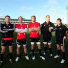 Highlanders players in the All Blacks (from left) Ben Smith, Jimmy Cowan, Adam Thomson, Jarrad...