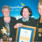 Pictured at the TrustPower Timaru District Community Awards function are (from left) TrustPower...