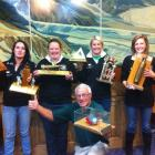 Pictured with the spoils of their success at the 41st annual Wajax rural firefighting competition...