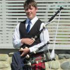 Piper Nick Parsons is looking forward to visiting Scotland. Photo by Ben Guild.