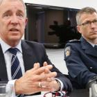 Police Assistant Commssioner Malcolm Bugess (left) and Correction's National Commissioner Jeremy...