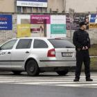 Police stand near the site of a shooting in the eastern Czech town of Uhersky Brod. Photo by Reuters