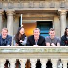 Polson Higgs Comedy Club comedians (from left) Lockie Rhodes (21), Kate Han (27), Simon McKinney ...
