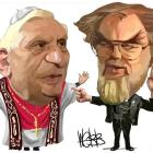 Pope Benedict XVI and the Archbishop of Canterbury, the Most Rev Rowan Williams.