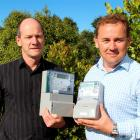 PowerNet smart meter project manager Paul McCullagh (left) and  chief executive Jason Franklin...