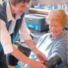 Practice nurse Marilla Park takes East Gore resident Shirley Hicks' blood pressure. Mrs Park was...