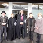 Present at the official opening of the St John Palmerston station yesterday were (from left)...