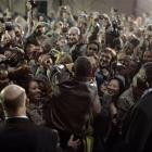President Barack Obama rallies troops and military personnel at Bagram Air Base in Afghanistan. ...