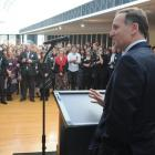 Prime Minister John Key addresses those attending the Class Act 2010 award ceremony at the...