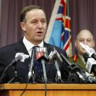 Prime Minister John Key speaks to the media at a press conference over the death of an NZSAS...
