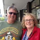 Princess Dawn passengers Gary (43) and Kate Bennett (51), of Melbourne, had lunch in Dunedin on...