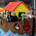 Princess Kate Mulvihill at the bow of the St Gerard's School float  Noah's Ark  in last year's...