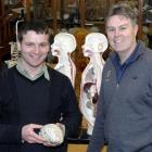 Prof Allan Herbison (right), director of the University of Otago Centre for Neuroendocrinology,...
