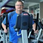 Prof Dave Grattan uses a cross-trainer at the Moana Pool gym. Photo by Linda Robertson.