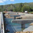 Progress on replacing the Kurow twin bridges this week. Photo by Andrew Ashton.