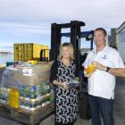 Provedores Nicky and Barry Gibbs are the face of Dunedin when oil exploration ships call at Port...