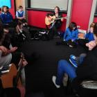 Pupils from 11 Otago secondary schools collaborate on writing a song with Icelandic singer...