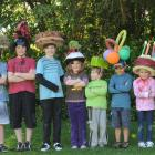 Pupils of Macandrew Bay School display their wacky hats to raise funds for Grace Hughes. (From...