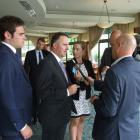 Prime Minister John Key speaks to the media after a DestinationQueenstown lunch function...