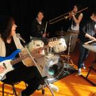 Queens High School pupils passionate about performance and music are (from left) Nadia Reid (17),...