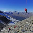 Queenstown Alpine Cliff Rescue team members train on Mt Earnslaw last month. The team mounted an...