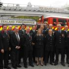 Queenstown and Frankton volunteer fire brigade award winners (rear, from  left) Bobby Lamont,...