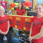 Queenstown-based Canyoning.co.nz staff (from left) sales and marketing manager Julz Cools,...