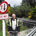 Queenstown Lakes District project manager Lane Vermaas at the single-lane McChesney Road bridge....