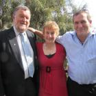 Queenstown Lakes mayoral candidates, from left, Simon Hayes, Vanessa van Uden and Michael Scott...