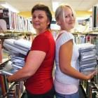 Queenstown Library manager Robyn Robertson (left) and children's librarian Ann-Marie Wilcox stand...