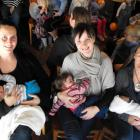Queenstown mothers Micka Lousier with son Logan (5 months), Lisa Cullen with daughter Grace Reid ...