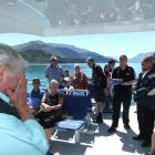 Queenstown's Brian Hancock reacts to seeing his surprise birthday cake arrive  on the top deck....