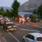 Queenstown's Frankton Rd was at a standstill as fire crews attended to a house fire last night....