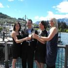 Queenstown Young Professionals treasurer Wendy Duncan, president Joel Peasey, executive Michelle...