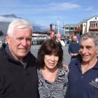Wahine survivers reunion.. Kerry Armstrong, Kate Watson and David McCulloch.  Photo by Chris Morris
