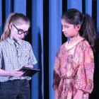 Rachel Cunningham (left, 10), in the role of Vicky, and Julia van Aalst (10), in the role of...