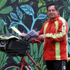 Rain, hail and shine, postie John Kingan has been on the road delivering post to Mosgiel...