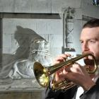 Ralph Miller, at Dunedin's Cenotaph yesterday, says Anzac Day is the bugler's busiest day of the...