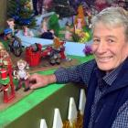 Ray Beardsmore with the Pixie Town he has restored in Woodside.