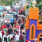 Dunedin's Santa parade. Photos by Christine O'Connor.