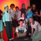 Rear (from left),Grace Middlemiss (17), Lewis Chellew (15), Tess Hazelhurst (16), Phil Powers,...