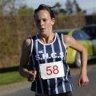 Rebekah Greene in action in a schools duathlon at North Taieri in May. Photo by Gregor Richardson.