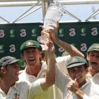 Recently retired Australian greats (from left) Shane Warne, Glen McGrath, Justin Langer and Adam...